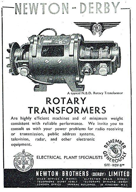 Newton-Derby Rotary Transformers