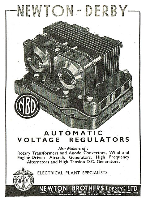 Newton-Derby Automatic Voltage Regulators