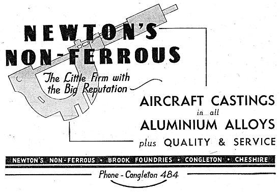 Newtons Non-Ferrous. Alloy Castings Brook Foundries. Congleton.