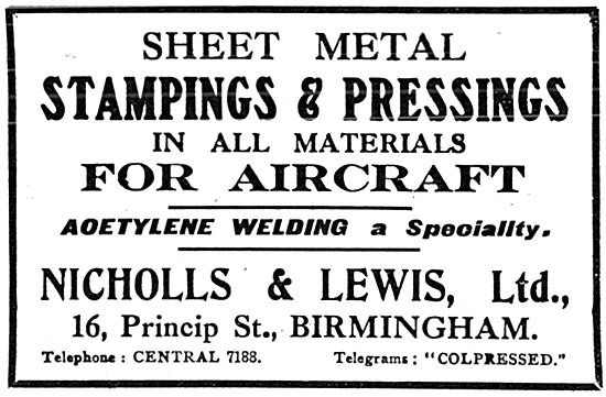 Nicholls & Lewis Ltd - Sheet Metal Stampings & Pressings.