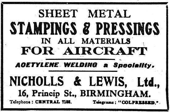 Nicholls & Lewis Ltd - Sheet Metal Stampings & Pressings.
