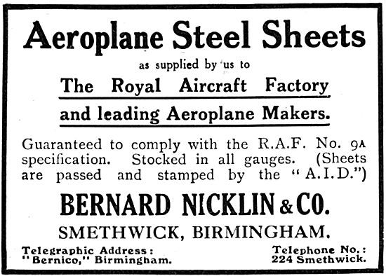Bernard Nicklin  Aeroplane Steel Sheets