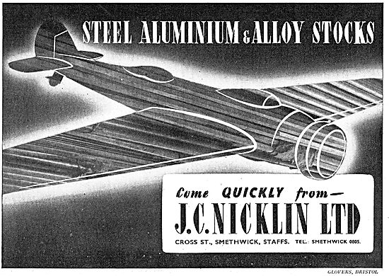 JAS C.Nicklin : Steel, Aluminium & Alloy Stockists