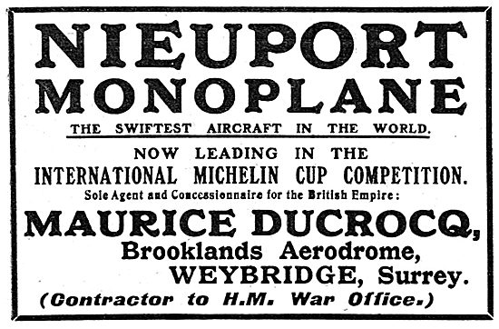 Nieuport Monoplane - Maurice Ducrocq