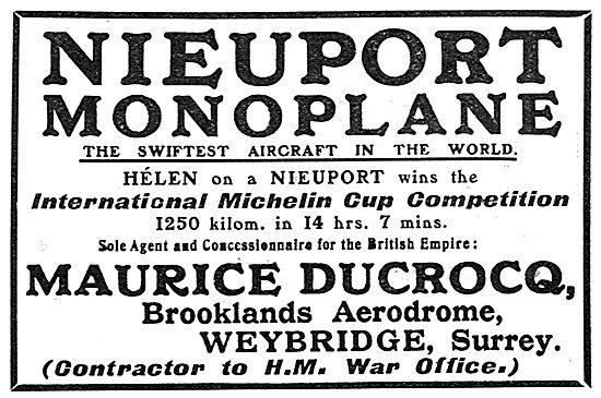 Nieuport Monoplane - 1911