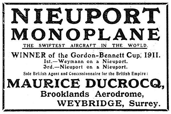 Nieuport Monoplane - Gordon Bennett Cup 1911 - Weymann