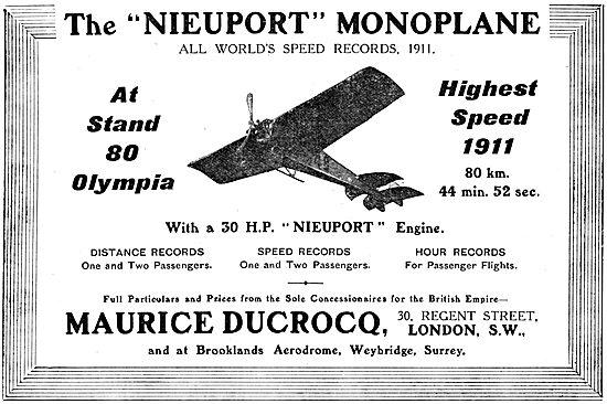 Nieuport 30 HP Monoplane - Maurice Ducrocq