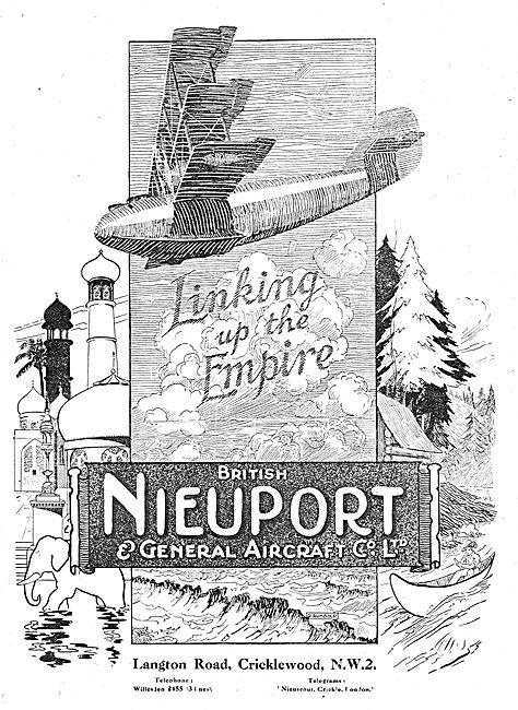 British Nieuport Aircraft - Linking Up The Empire