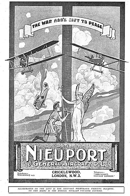 British Nieuport Aircraft. The War God's Gift To Peace