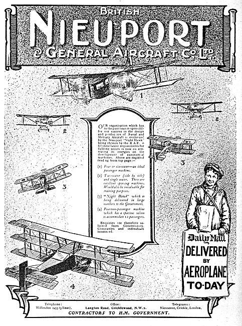 Nieuport Aircraft - Nighthawk - Transport & Passenger Machines