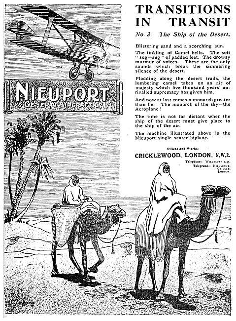 British Nieuport Aircraft - Transitions In Transit