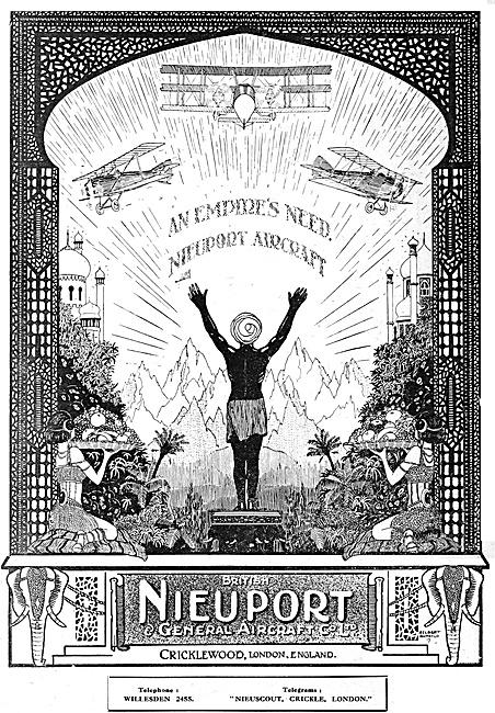 British Nieuport & General Aircraft Co 1920 Advert