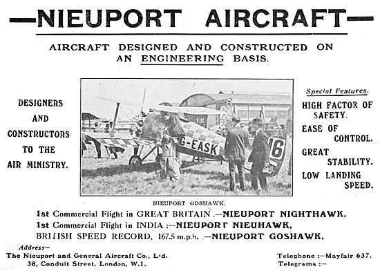 British Nieuport Goshawk G-EASK