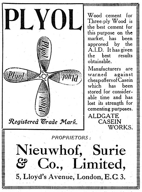 Nieuwhof Surie Plyol Wood Cement. AID Approved