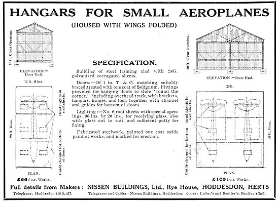 Nissen Buildings - Hangars For Small Aeroplanes