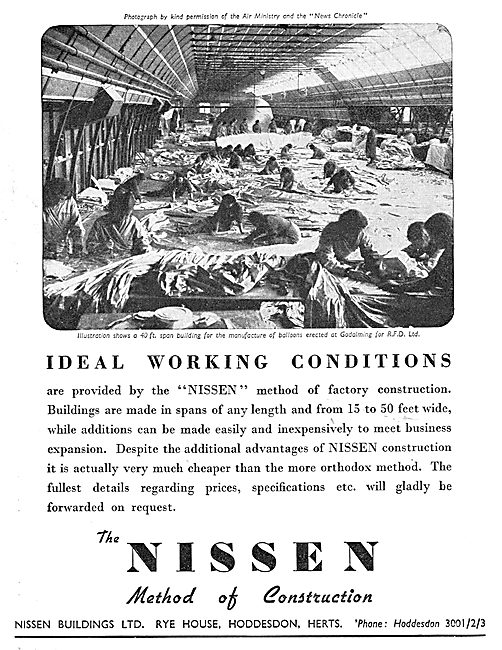 Nissen Buildings For Airfields