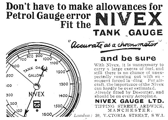 Nivex Fuel Gauges For Aircraft