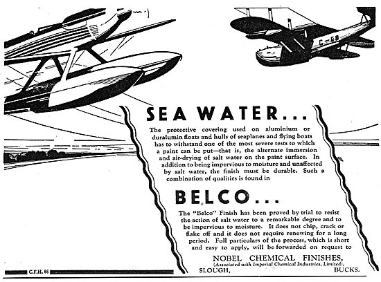 Nobel Aircraft Dopes & Finishes - Belco