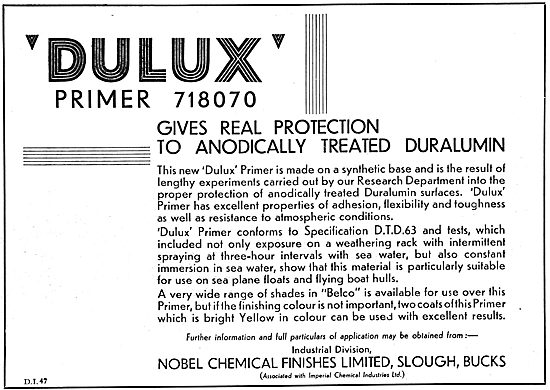 Nobel Dulux Paints 1932 Advert. Primer 718070