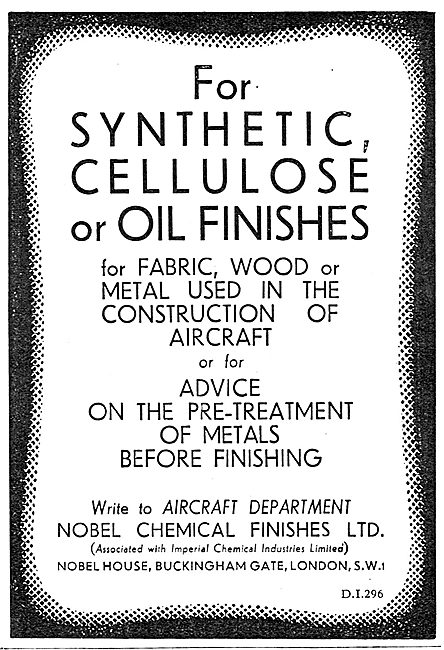 Nobel Synthetic Cellulose Or Oil Finishes For Aircraft