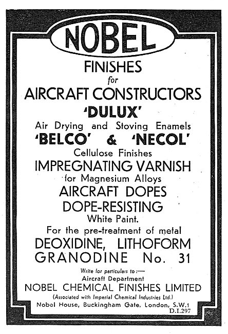 Nobel Aircraft Finishes: Dulux - Belco - Necol