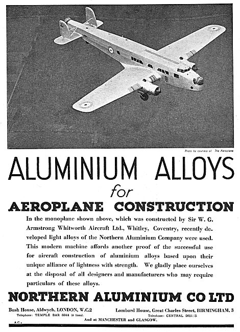 Northern Aluminium Alloys For Aircraft Construction - Noral