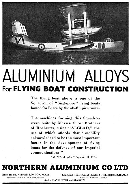 Northern Aluminium - Aluminium Alloys 1935