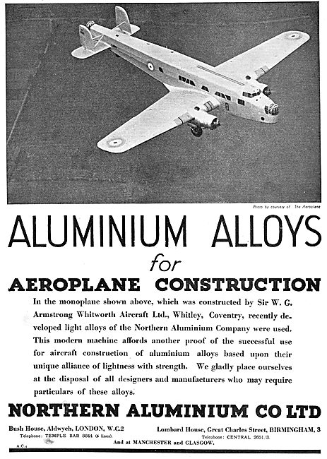 Northern Aluminium Alloys For Aeroplane Construction