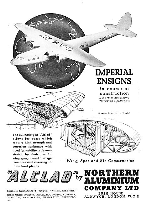 Northern Aluminium Noral Alclad 1937