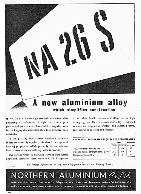 Northern Aluminium Announce NA 26 S - A New Aluminium Alloy.