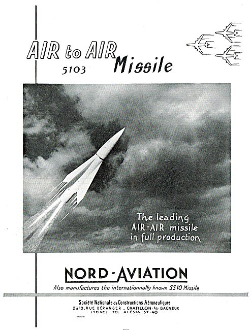 Nord Aviation 5103 Air To Air Missile