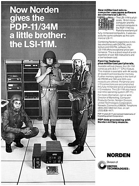 United Technologies Norden PDP-11/34M & LSI-11M Computers
