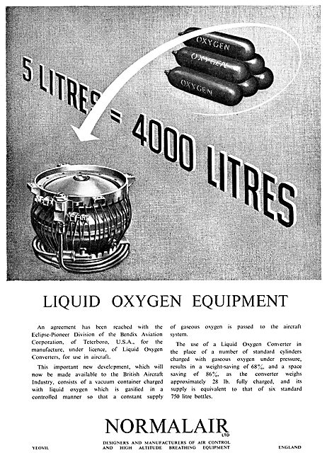 Normalair Cabin Atmosphere Control - Liquid Oxygen Systems