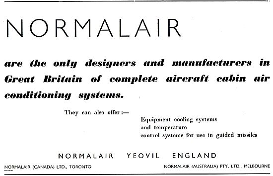 Normalair Aircraft Cabin Conditioning Systems