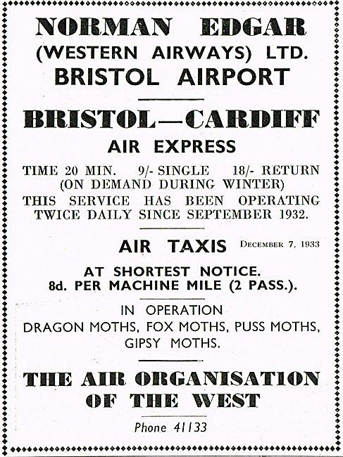 Norman Edgar Bristol Cardiff Express Dragon Moths