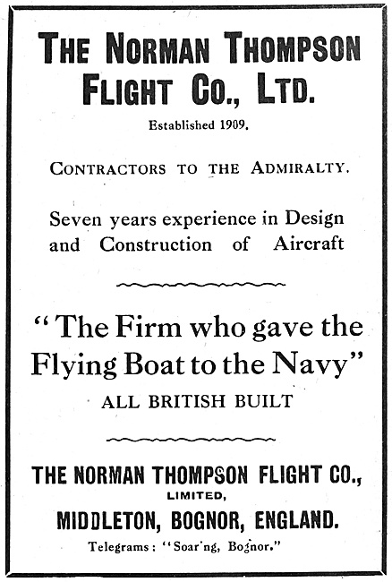 Norman Thompson Flying Boats 1916