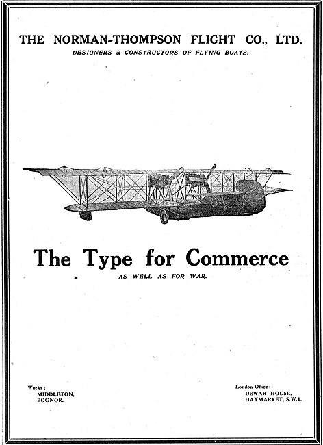 Norman Thompson Aeroplanes For Commerce Or For War
