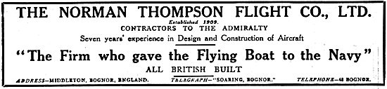 Norman Thompson Flying Boats 1917