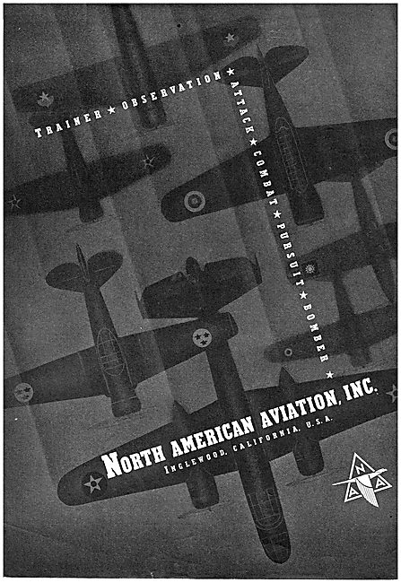 North American Aviation - Manufacturers Of Military Aircraft.