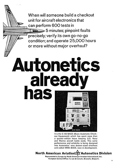 North American Aviation - Autonetics C-93 BACE Aircraft Test Eqpt