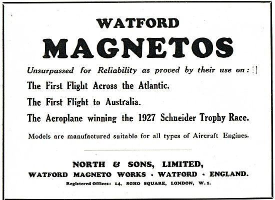 North & Sons - British Made Watford Magnetos