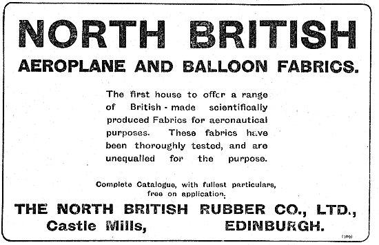North British Rubber Scientifically Produced Aeroplane Fabrics