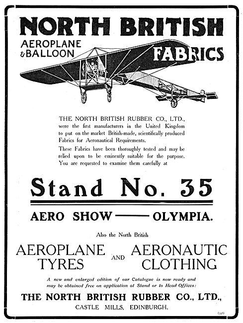 The North British Rubber Company. Aeroplane Tyres & Fabrics