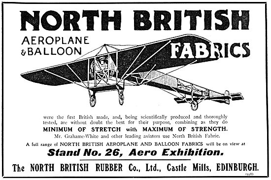 North British Rubber Co Aeroplane & Balloon Fabrics