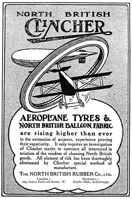 North British Rubber -  Clincher Aeroplane Tyres - Balloon Fabric