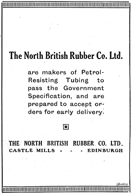 North British Rubber Ptrol Resisting Tubing 1916
