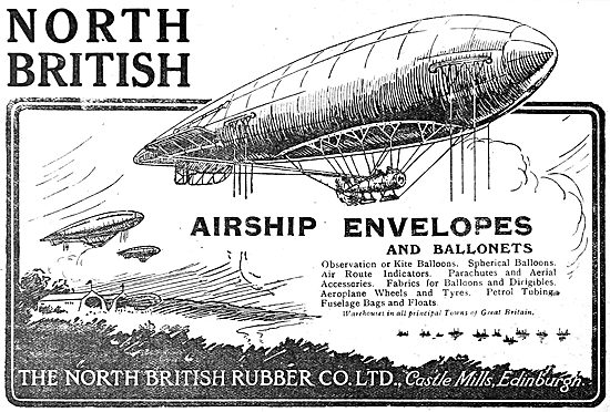 North British Rubber Company - Airship Envelopes & Ballonets.