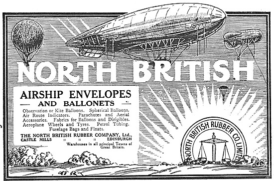 North British Rubber. Airship Envelopes & Ballonets