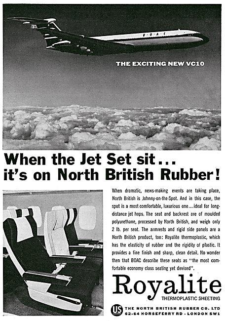 North British Rubber - Thermopalstic Sheeting. Aircraft Seating