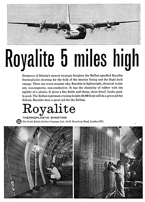 North British Rubber - ROYALITE Aircraft Seating